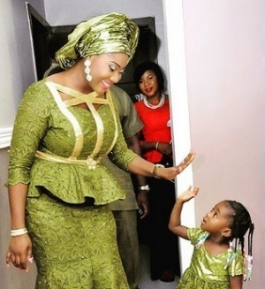 Photo: Actress Mercy Johnson Looking Stylish With Her Little Daughter