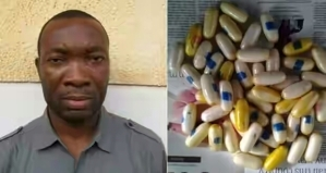 Photo: Auto Parts Dealer Who Inserts Cocaine In Anus, Arrested At Lagos Airport