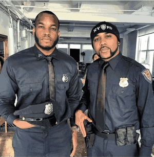Photo: Banky W And Lynxxx In NYPD Police Uniforms