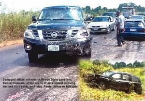 Photo: Benue state governor Suswam & his deputy in auto crash