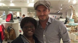 Photo: Tiwa Savage's Mum Meets Football Legend David Beckham