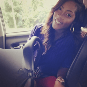 Photo: Tiwa Savage & Son Hit The Streets Of London