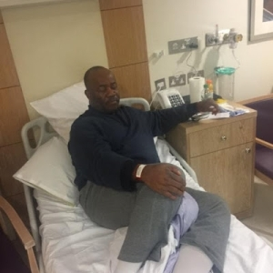 Photo Of Senator Godswill Akpabio On His Hospital Bed In London