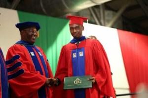 Photos: Atiku's Son, Aliyu Graduates From American University Of Nigeria