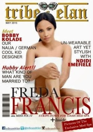 Photos: Freda Francis Covers May Issue Of Tribe & Elan Magazine