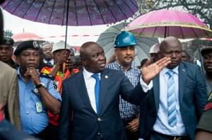 Photos: Lagos Governor Visits Iyana Ipaja Fire Outbreak Scene