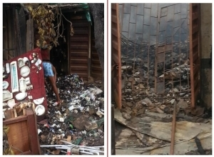 Photos From Iyana Ipaja Fire Outbreak (See Photos)