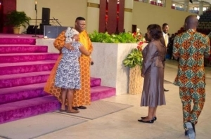 Photos Of Airport Cleaner At TREM Church Service Today