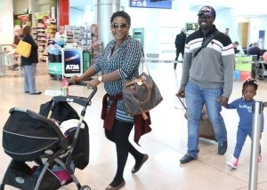 Pics: Mercy Johnson All Smiles As She Strolls With Her Hubby & Kids In Dublin