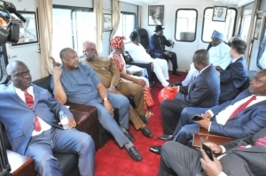 President Jonathan Enjoying A Train Ride