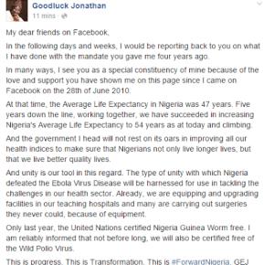 Read President Jonathan