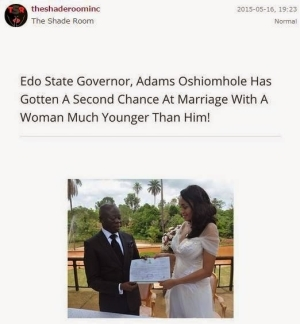 Read What These Americans Think About Adams Oshiomhole's Marriage