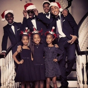 Sean Diddy Comb Releases Vintage Family Christmas Card