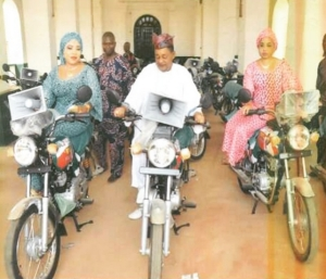See Photo Of Alaafin Of Oyo And Wives Riding Motorcycles
