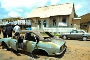 See Photo Of The Churches Burnt By Angry Protesters In Jos