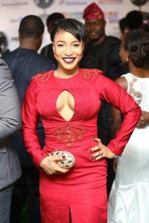 See Tonto Dikeh's boob-revealing outfit at Nollywood Movies Awards