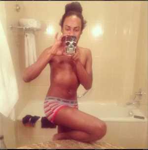 See What Denrele Edun Shared On No Bra Day