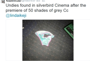 See what was found in Lagos cinema after 50 Shades of Grey movie. Lol