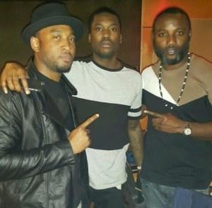 Sesan Ogunro & Kamal Ajiboye spotted with Meek Mill...