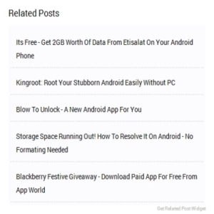 Simple Steps To Install Blogger Blog Related Post Widget Without Thumbnail