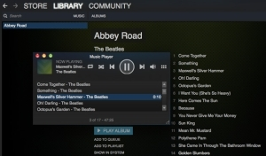 Steam Music  Player does  exactly what it  sounds like