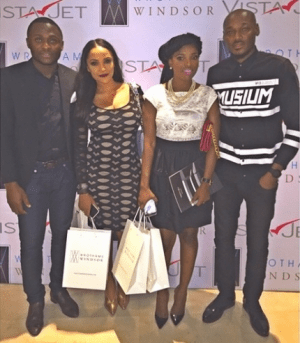 Stylish Annie and 2face step out with Ubi Franklin & Freda Francis
