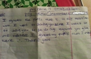 They say this is a job application letter from Ibadan.