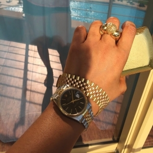Tonto Dikeh Shows Off her Expensive Rolex Wristwatch