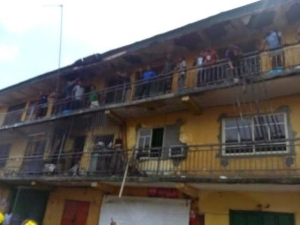 Two Storey Building Catches Fire In Port Harcourt