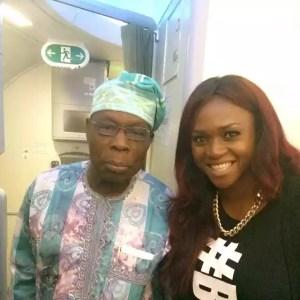Waje Excited To Meet Former President Obasanjo | Photo