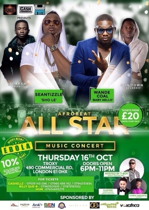 Wande Coal Touches Down In London For Afrobeat All-Star Concert