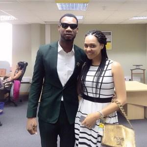WizKid's girlfriend Tania Omotayo poses alongside D'Prince