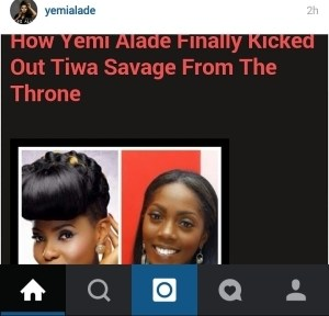 Yemi Alade Reacts To