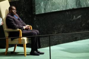 """Zimbabwe's Mugabe Shouts """"We Are Not Gays!"""" During U.N. Speech"""
