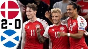 Denmark vs Scotland 2 − 0 (2022 World Cup Qualifiers Goals & Highlights)