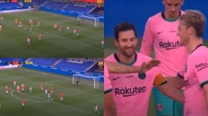 Messi Smiles Again: Uses Weaker Right Foot To Score Great Goal