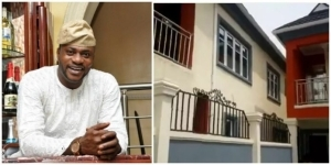 Odunlade Adekola shows off the inside of his palatial mansion in a star-studded housewarming party (Video)