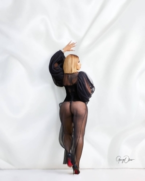 Mercy Eke Shows Her Backside In See-Through Outfit In Hot Pre-Birthday Photos