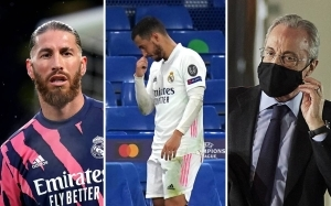 Eden Hazard grilled by Real Madrid president Florentino Perez and skipper Sergio Ramos after Chelsea debacle