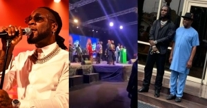 Moment Governor Wike Promised N10M Each To Every Artiste That Performed At Burna Boy's Homecoming Concert (Video)