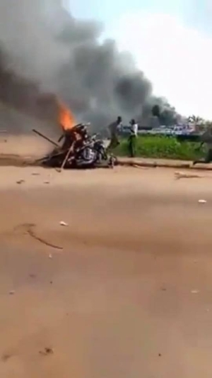 Suspected IPOB members burn down Ebonyi Central Police Station (video)