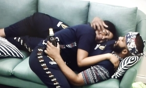 #BBNaija: My Baby; Kiss Me – Erica Tells Kiddwaya As They Cuddle Each Other (Video)