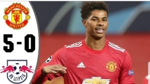 Manchester United vs RB Leipzig 5 - 0   UCL All Goals And Highlights (28-10-2020)