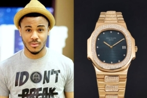 #BBNaija : Ozo gets a gold wristwatch worth 8 million from a Fan (Video)
