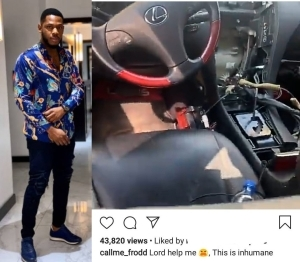 """""""This is inhumane"""" Frodd cries out as he reveals he was robbed (video)"""