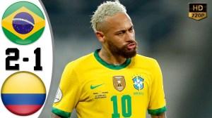 Brazil vs Colombia 2 - 1 (Copa America 2020 Goals & Highlights)