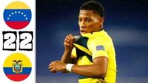 Venezuela vs Ecuador 2 - 2  (Copa America  2020 Goals & Highlights)