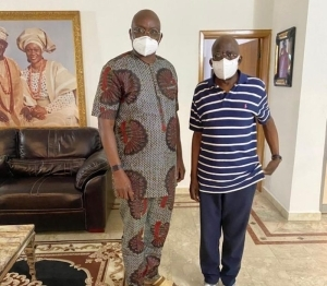 Former Ekiti State Governor, Fayose Visits Tinubu In Lagos (Photo)