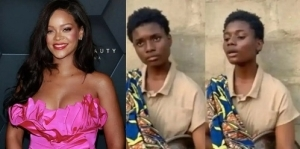 Rihanna Contacts 17-Year-Old Nigerian Hawker Who Set Internet On Fire with Her Sweet Voice (Video)