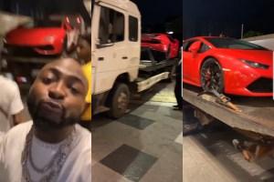 Davido Buys Brand New Lamborghini Huracan (Video+Photos)